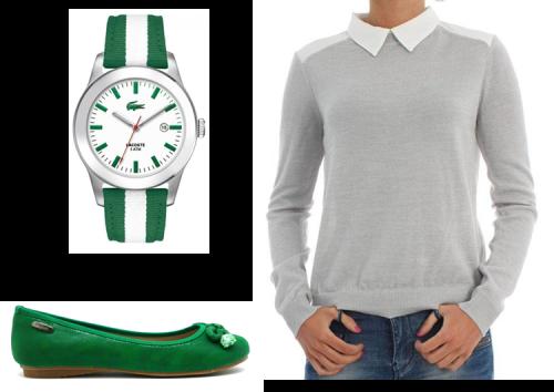 verde y blanco